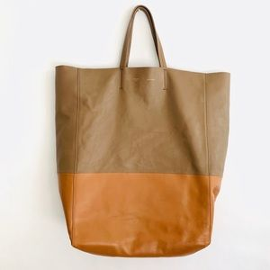 Celine Vertical Bicabas Tote Lambskin Two Toned